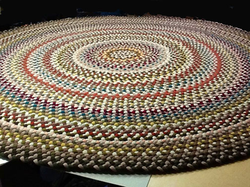 Handmade woven rugs handmade braided rugs by marge:an 11u0027 round braided rug.  CDNJQCH