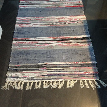 Handmade woven rugs woven rug/large rag rug/boho chic hippie mat/rugs/handmade woven rug/colorful  scraps/h HOGFKJS