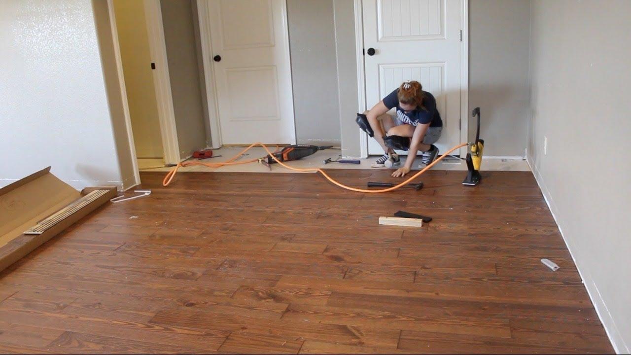 hardwood floor first time laying hardwood flooring GUDDWPA
