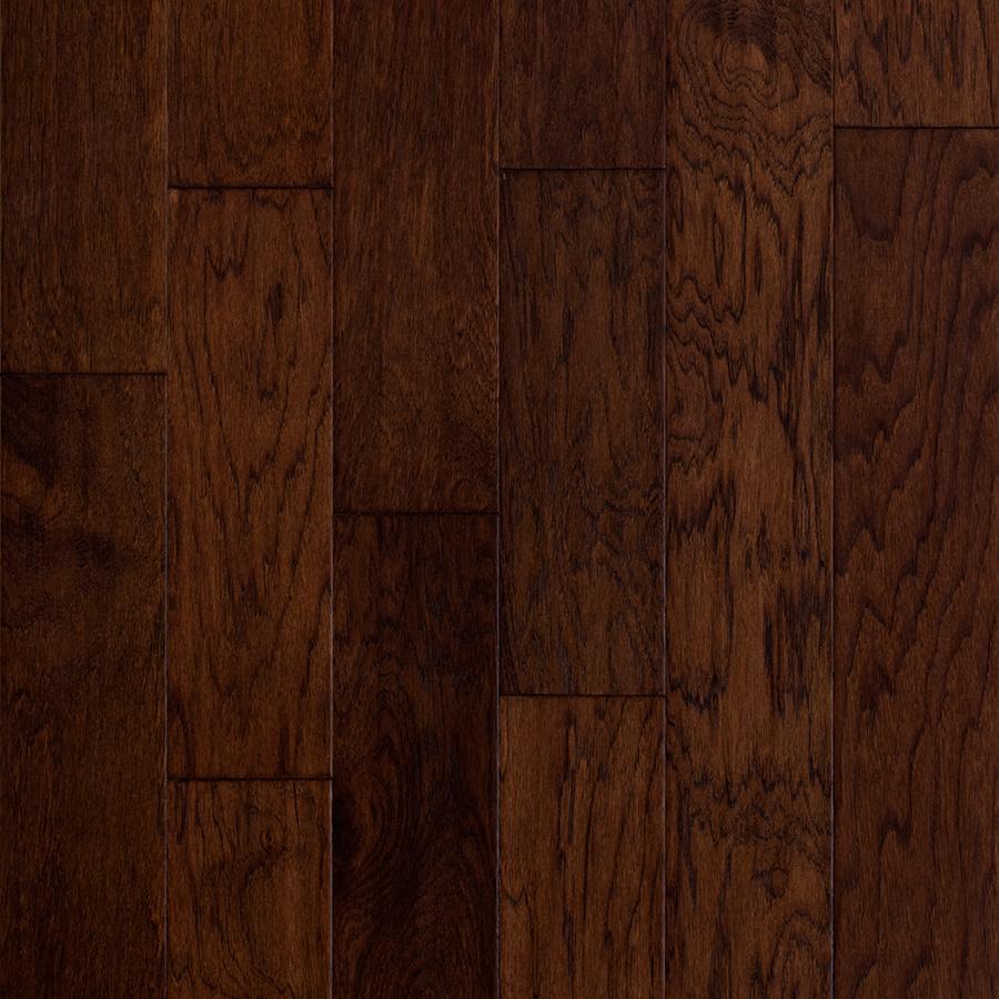 hardwood floor style selections 5-in barrel hickory engineered hardwood flooring (32.29-sq  ft) UBJFBWS