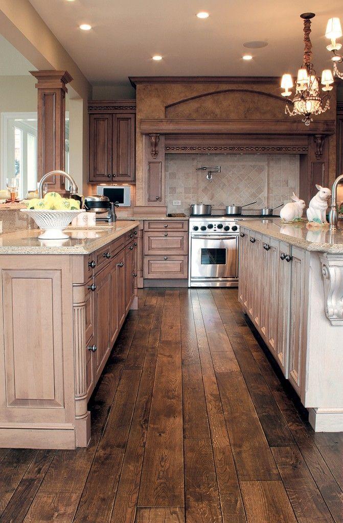 hardwood floors in kitchen 30 stunning kitchen designs. distressed hardwood floorskitchen ... SZYOGIO
