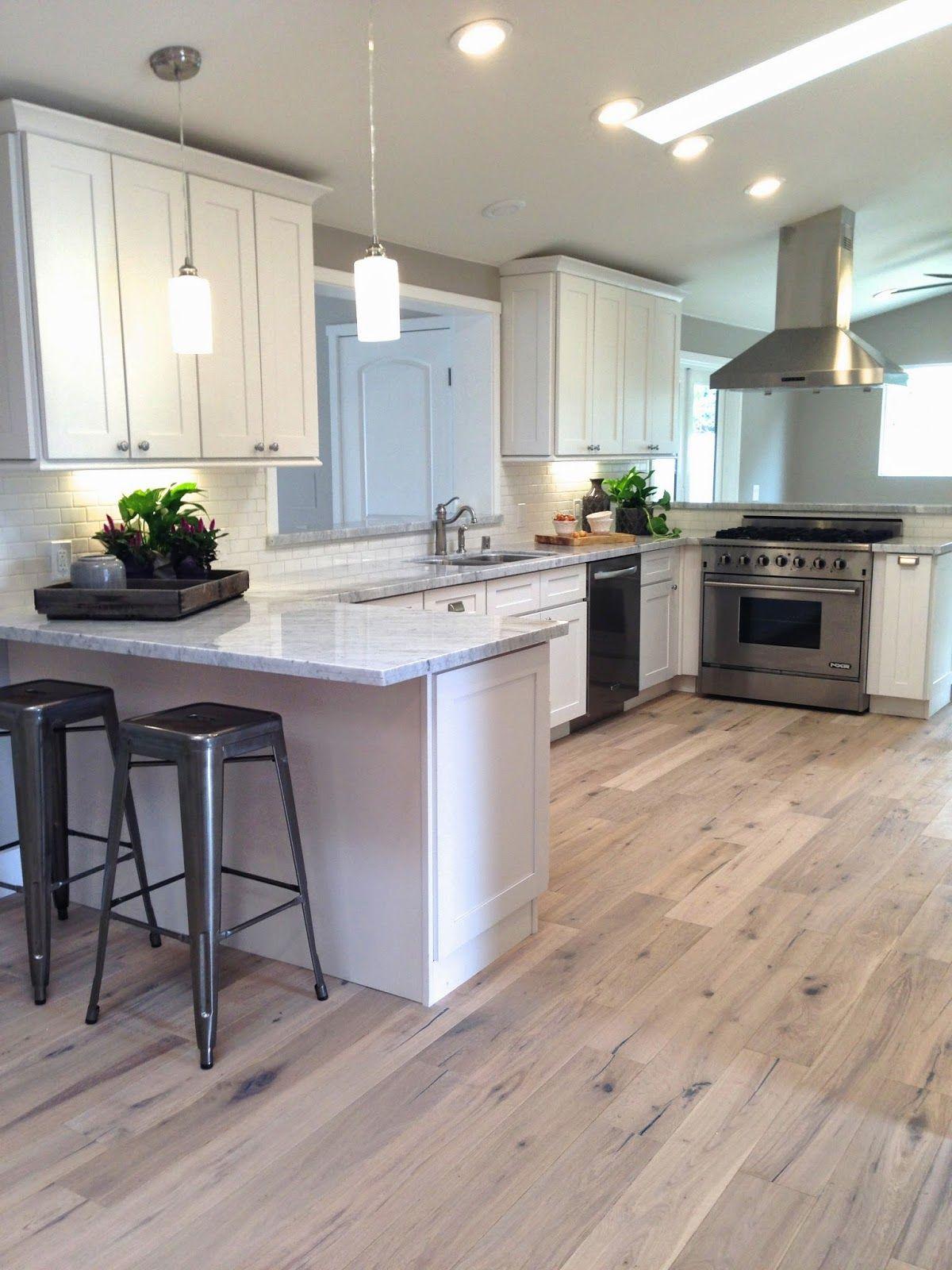 hardwood floors in kitchen i like the stain color of the floorsu2026 TSTFKVI