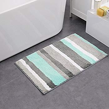 hebe non-slip bathroom rug mat shag microfiber shower bath rug absorbent bath QCKUBEY