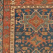 heriz rugs antique heriz, northwest persian, 3ft 6in x 3ft 11in, circa 1900 NOCVABL
