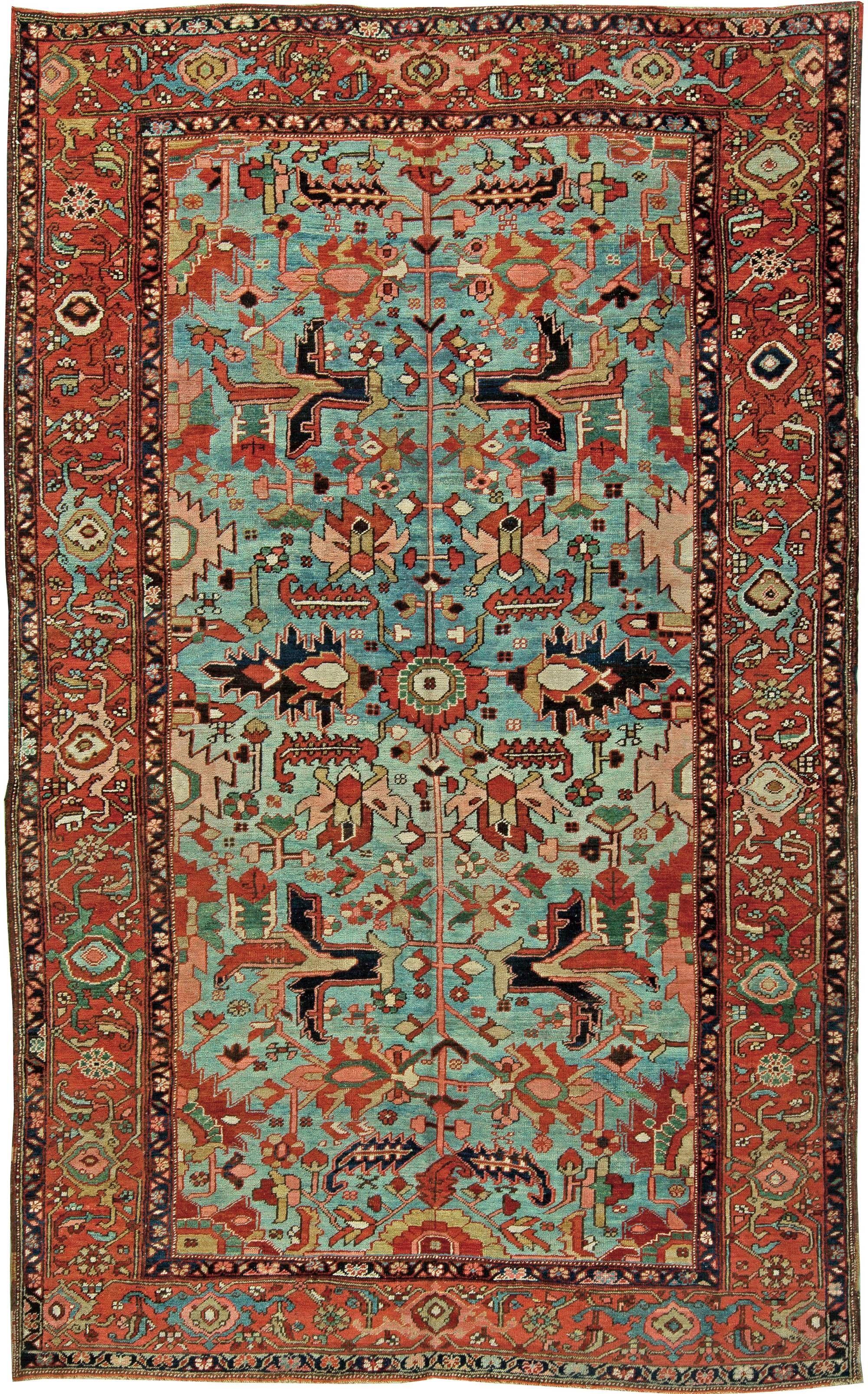 heriz rugs this heriz rug features antique persian rug patterns - by doris leslie blau YMPRLOQ