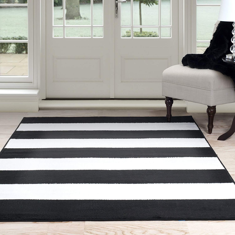 home rugs amazon.com: lavish home breton stripe area rug, 5u0027 by 7u00277 PXWMUWG