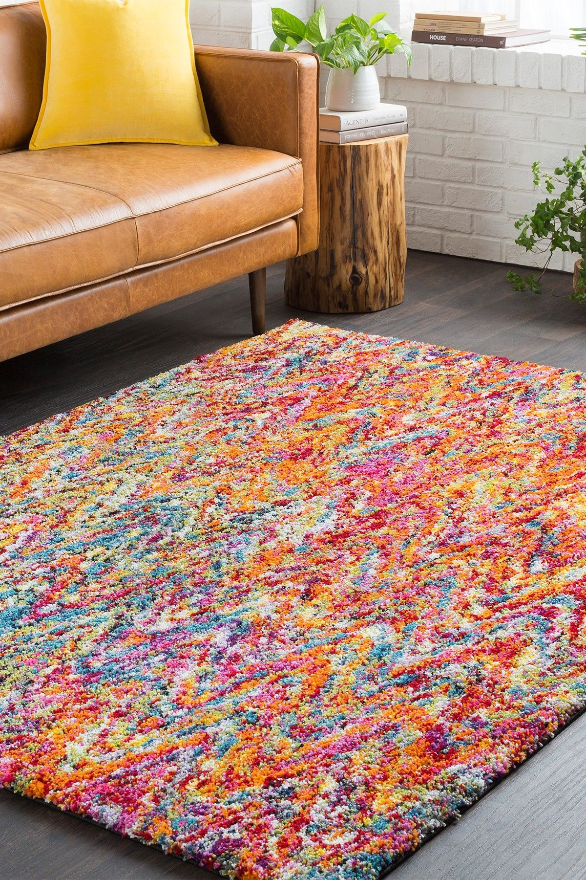 huge rug huge gift rainbow shag rug surya multi bed bath pinterest rugs ... JWOGNHC
