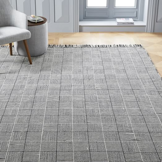 indoor outdoor rug basketweave indoor/outdoor rug - black WNMGRFK