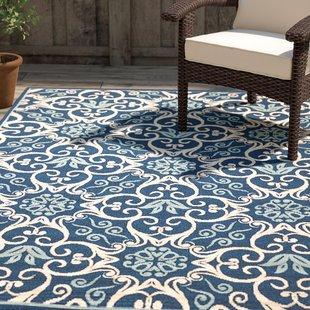 indoor outdoor rug groveland navy indoor/outdoor area rug EVYBPKT