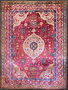 iranian rugs the rothschild small silk medallion carpet, mid-16th century, museum of  islamic art, RVFIPNT