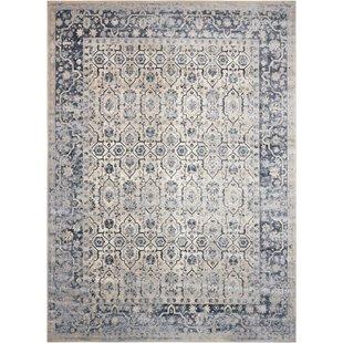 kathy ireland rugs malta ivory/blue area rug. by kathy ireland home gallery BCIMXAN