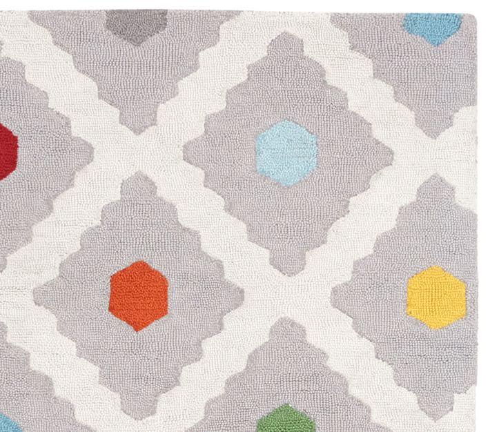 kids rug multi dot rug | pottery barn kids PDHBUVS