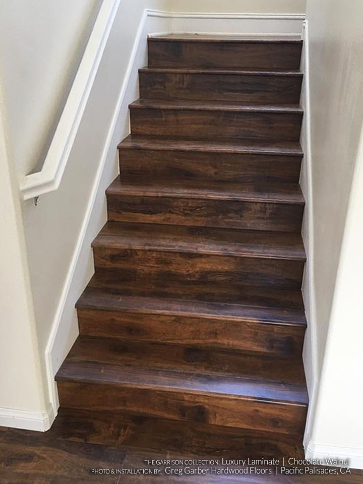 laminate flooring on stairs chocolate walnut laminate flooring hardwood flooring stairs staircase MMDLVYF