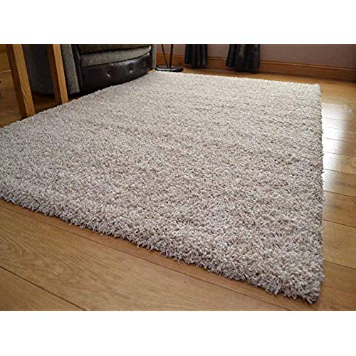 large rug soft touch shaggy suede beige thick luxurious soft 5cm dense pile rug. GLTAMLH