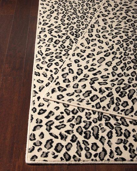 leopard rug lea snow leopard mat, ... STGLGHQ