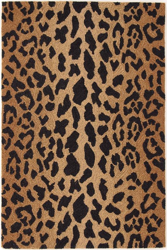 leopard rug leopard wool micro hooked rug KBRHFZR