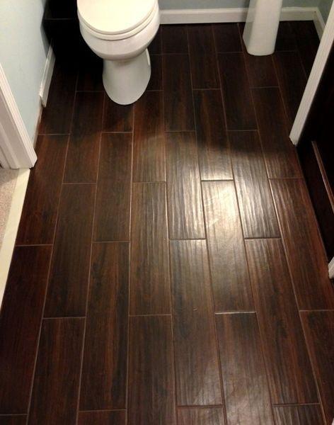 Installation of linoleum wood flooring