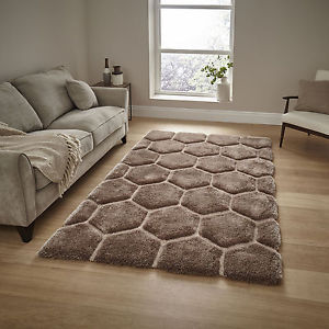 luxury rugs image is loading beige-medium-large-3d-texture-shaggy-rug-dense- FJNBJIA