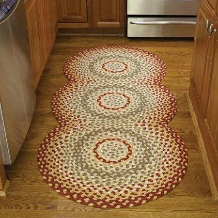 mill village braided rug runner XVYADLS