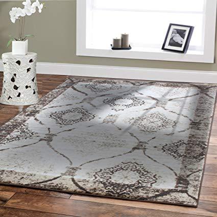 modern area rugs for living room 5x8 under 50 brown cream black rug EKQLFYU