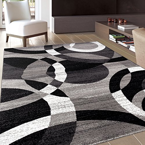 modern black area rug amazing contemporary modern circles gray area rug abstract 7 10 x 10 2 EJYWEDD