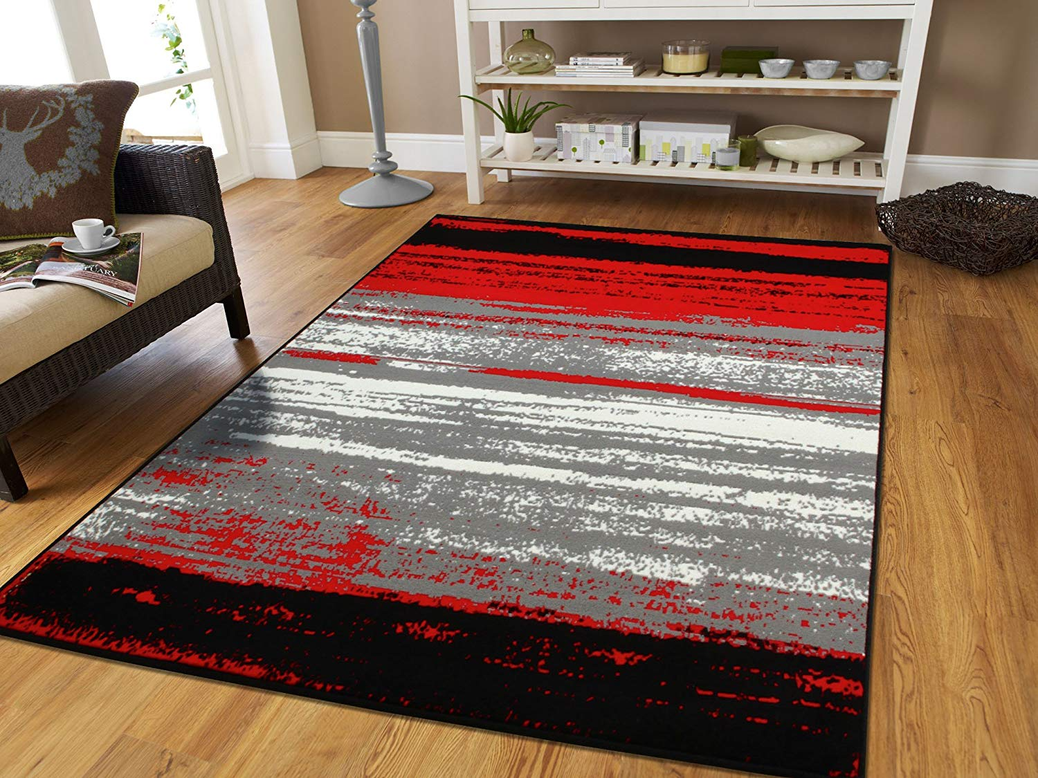 modern black area rug amazon.com: large grey modern rugs for living room 8x10 abstract area rugs UNHGEFS