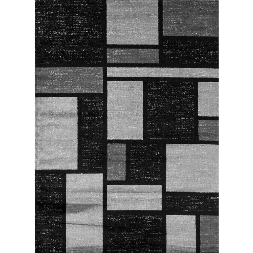 modern black area rug world rug gallery contemporary modern boxes design gray 2 ft. x 3 ft. PZKQUJI
