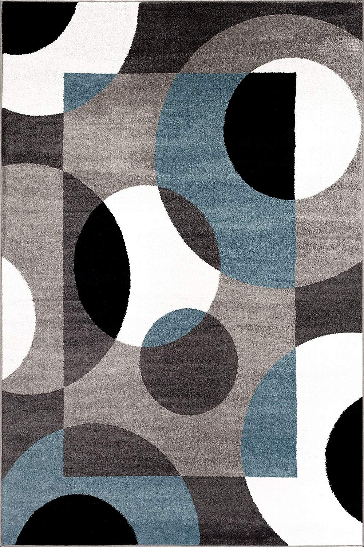 modern rug amazon.com: rugshop modern circles area rug, 5u0027 3 TPJQRFY