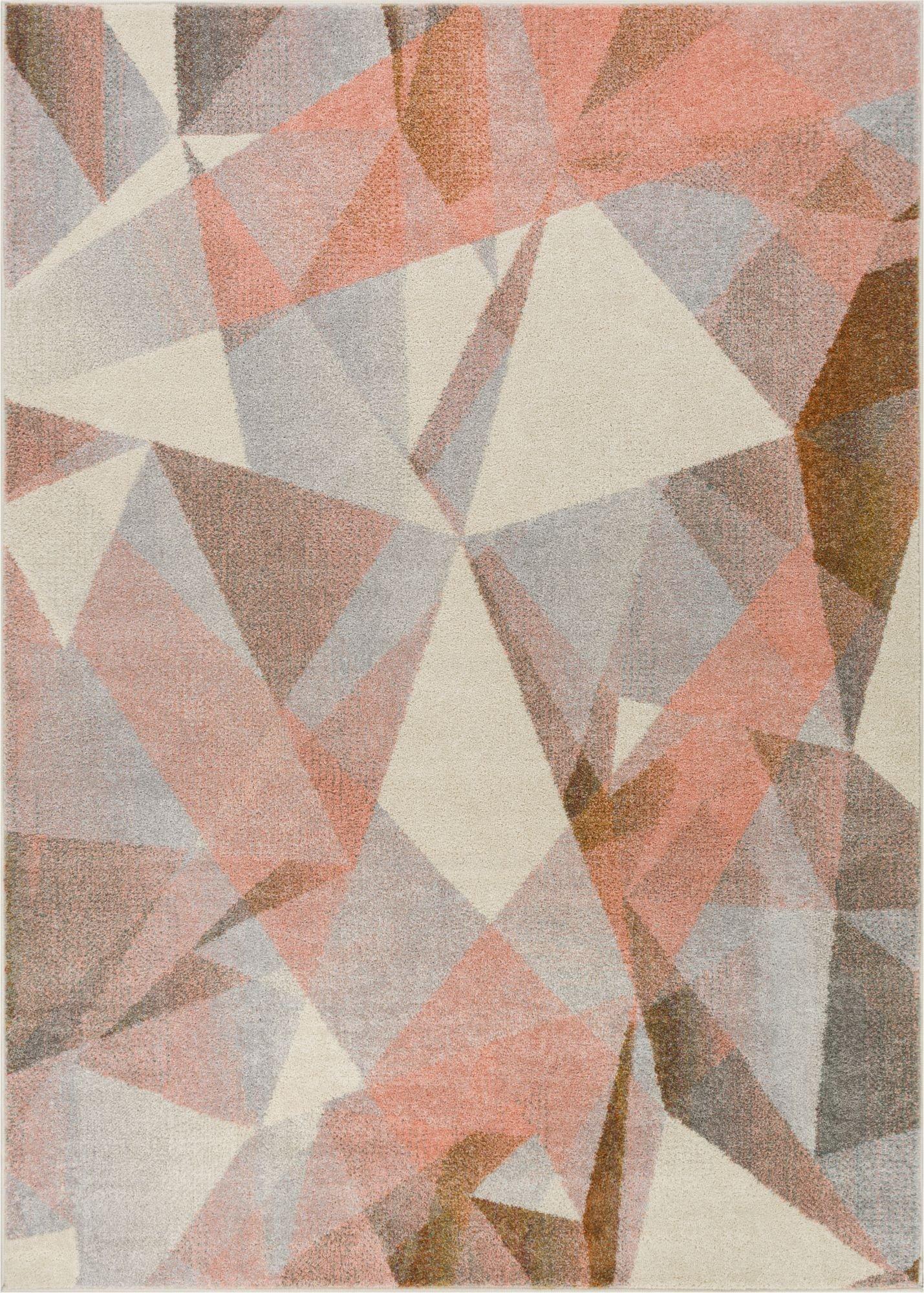 naomi tranquil pink mid-century modern rug TYFKPGK