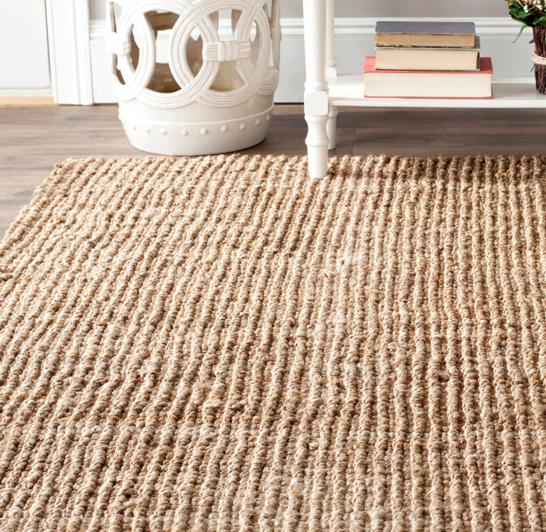 natural rugs safavieh natural jute hand-woven chunky rug BGVPFPQ