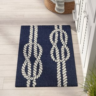 nautical rugs george ropes hand-tufted navy indoor/outdoor area rug ULVTQDN