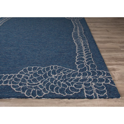 nautical rugs nautical rope bordered indoor-outdoor rug QLZWEBP