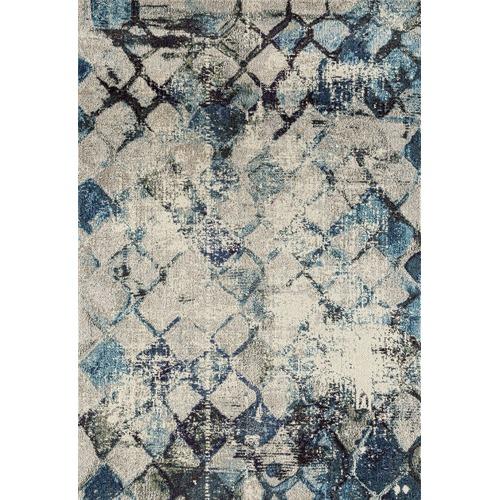 network rugs johnnie blue durable modern rug LVGPDLC