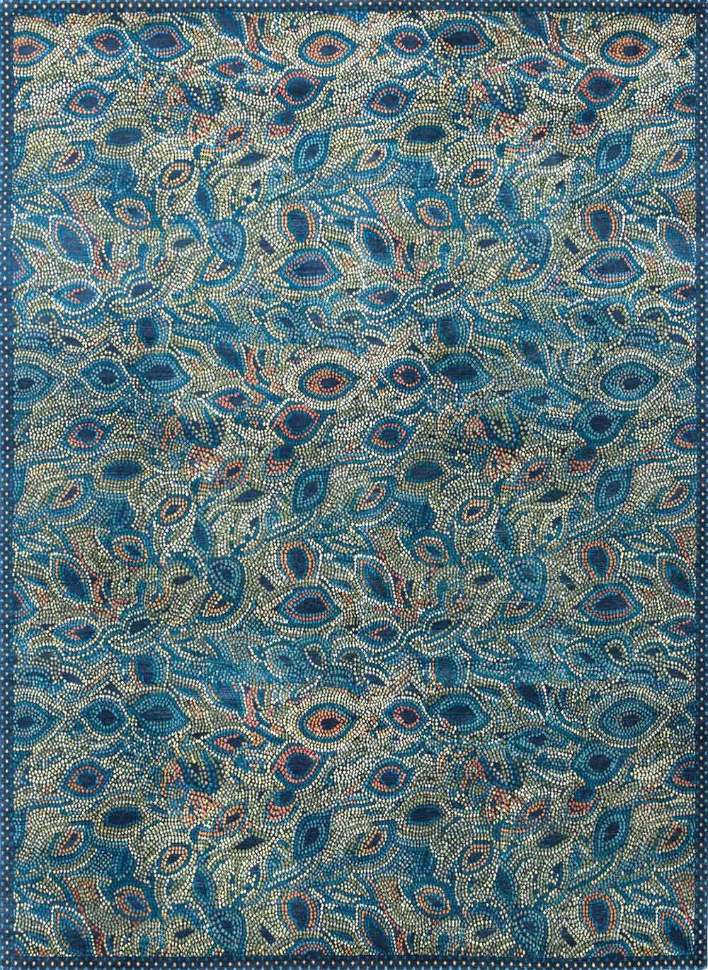 new carpet design 3.025-peacock-(new-moon-rug) carpet design awards 2014 RQTBWWC