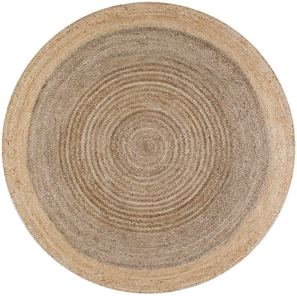 nuloom eleonora grey 8 ft. x 8 ft. round area rug QIOCYKV