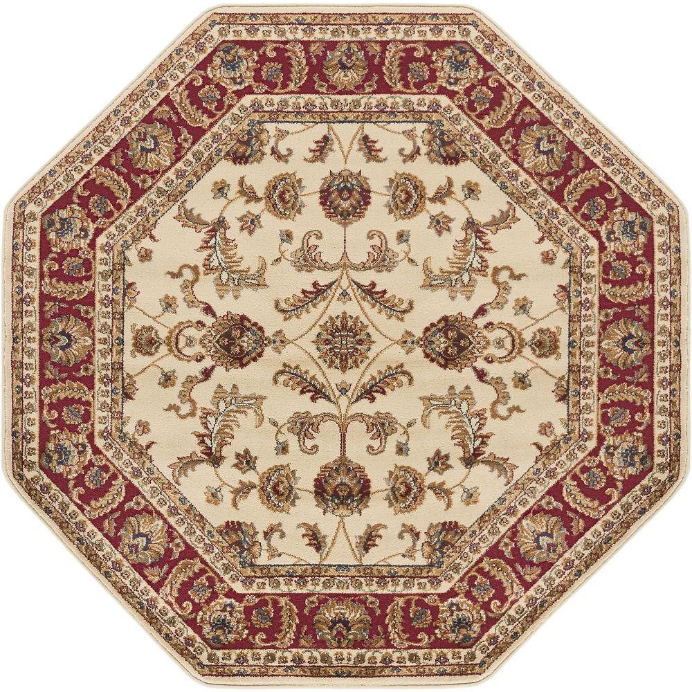 octagon rugs tayse rugs sensation beige 8 ft. octagon transitional area rug PWDHVHL