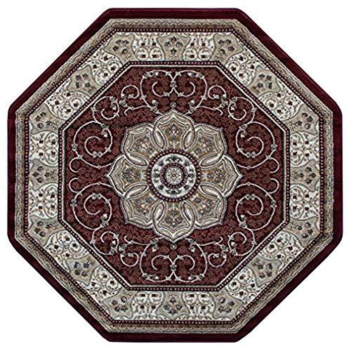 octagon rugs traditional octagon area rug design # 404 burgundy (4 feet x 4 feet) UCWLZZV