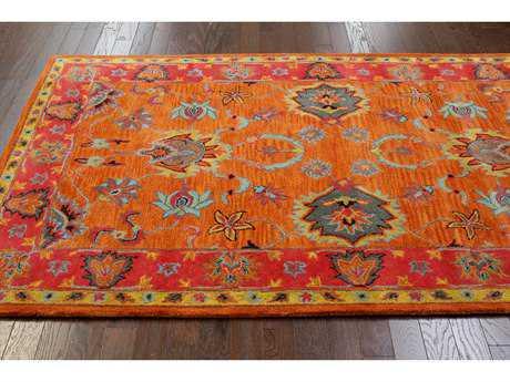 orange rugs nuloom venice orange rectangular area rug GRUQUQI