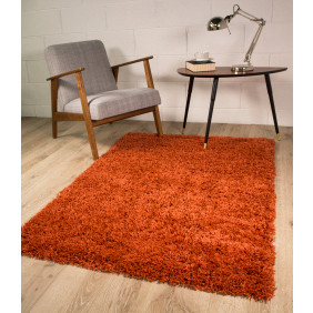 orange rugs terracotta orange shaggy rug ontario MRKNLOD