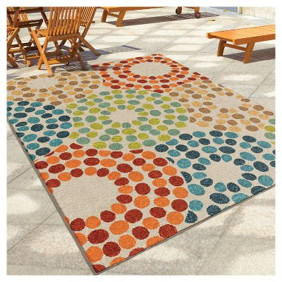 orian rugs polka circles promise indoor/outdoor area rug : target SGEXSTI