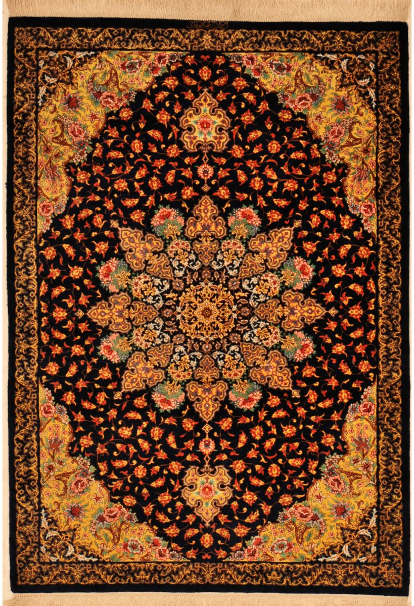 oriental carpet patterns high knott count silk and wool qum persian rug UOOPTIA
