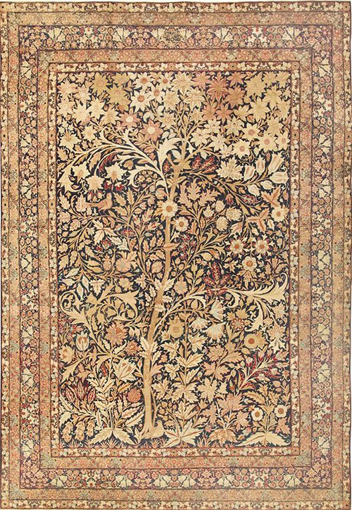 oriental rug patterns persian tree of life design rug nazmiyal floral pattern ... COFHMTV