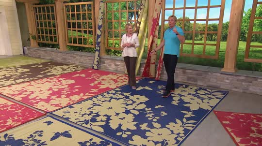 Outdoor patio carpets on-air presentation HQASVZR