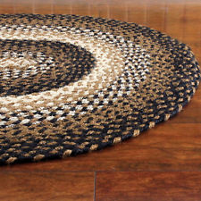 oval braided rugs braided area rug black tan cream oval rectangle primitive country ihf  stallion AUOYFKS