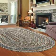 oval braided rugs i would love a braided rug in front of the fireplace! VVKFPCR
