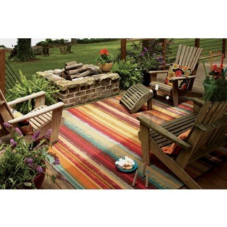 Patio rug mohawk home printed outdoor multicolor rug - 5u0027 ... ASGFFVI