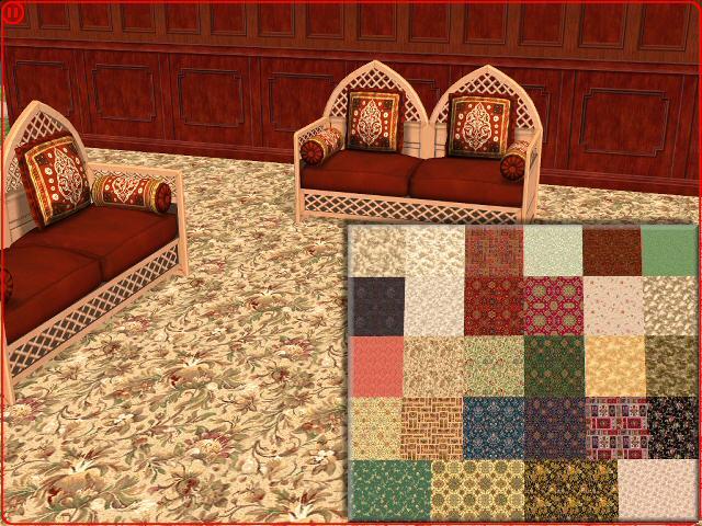 Patterned carpets x SCRTLVO