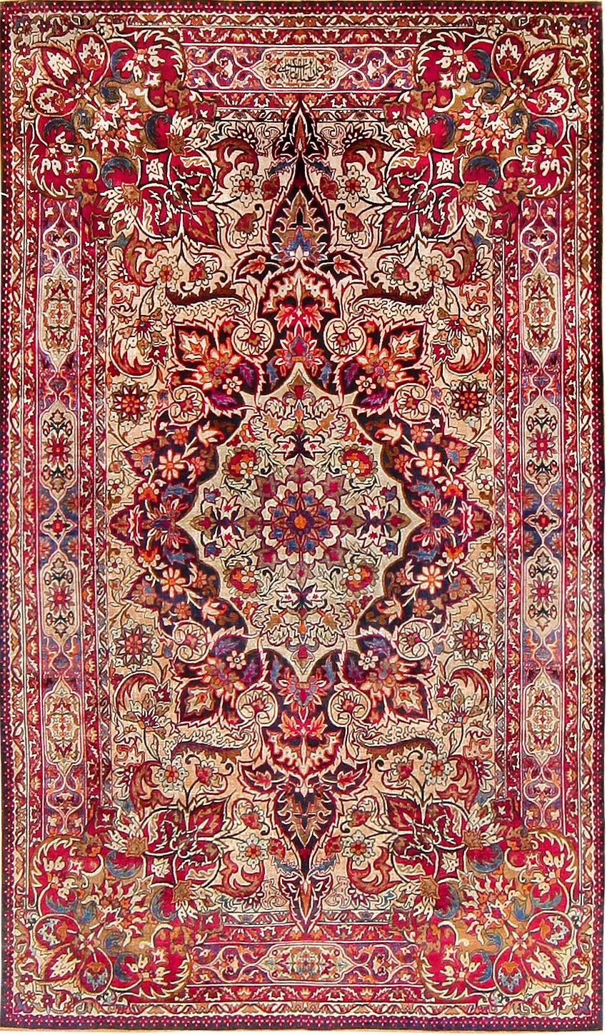 persian carpets and rugs antique silk persian kermani rug 47591 main image - by nazmiyal #lg PYJIOQX
