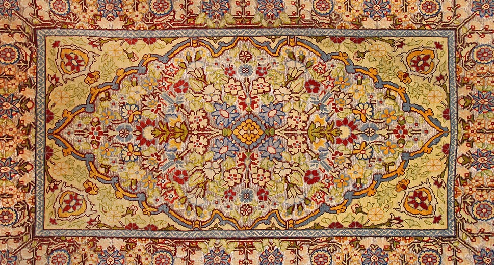 persian rug designs ... example of islimi floral rug design pattern ... IWQCELS