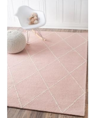 pink area rugs nuloom dotted diamond trellis hand-tufted baby pink area rug (7.5 x 9.5) LEBMYYJ